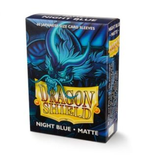 Dragon Shield Japanese Art Matte Sleeves - Night Blue Delphion (60 Sleeves)