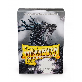 Dragon Shield Japanese Matte Sleeves - Slate (60 Sleeves)