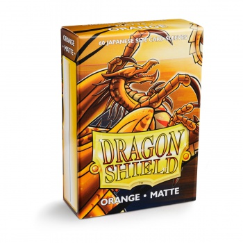 Dragon Shield Small Sleeves - Japanese Matte Orange (60 Sleeves)