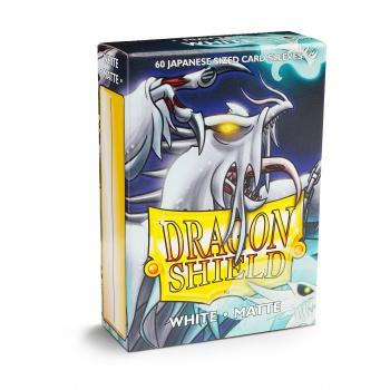 Dragon Shield Small Sleeves - Japanese Matte White (60 Sleeves)