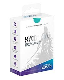 Pack 100 fundas Estándar Ultimate Guard Katana Turquesa